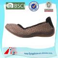 Handmade elástico tecido único sapatos mulheres