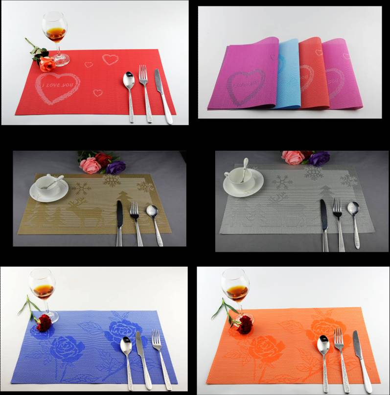 Love a knife and fork PVC table mat decoration cushion roses5454