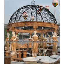 Outdoor Garden Gazebo with Stone Marble Granite Sandstone Limestone (GR050)
