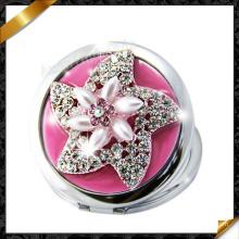 Miroir de poche Protable, pavé Crystal Pearl Compact Mirror, nouveau style miroir chaud! ! (MW020)