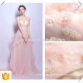 Correa de espagueti rosada del vestido de noche de las mujeres del hombro / vestido de noche nupcial Vestido de dama de honor rosado