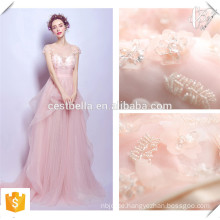 Rosa Spaghetti-Armband aus Schulter Frauen Abendkleid / Braut Abendkleid Rosa Brautjungfer Kleid