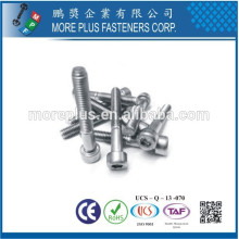 Made in Taiwan Factory Carbon Steel Stainless Steel Class10.9 DIN912 ALLEN Bolt Socket Countersunk Head Screw