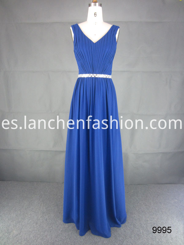 V Neck Long Dress