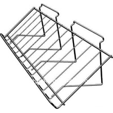 Good quality supermarket metal sloping slatwall shelf