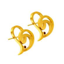 As mulheres do parafuso prisioneiro da orelha do coração formam a jóia 316L de aço inoxidável