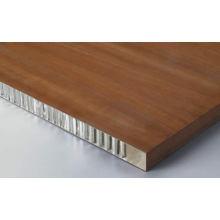 Painéis de favo de mel de imitação de madeira em alumínio para decoração interna e externa
