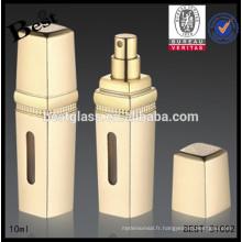 bouteille en verre de parfum de l'aluminium royal 5ml, bouteille en verre de parfum de pulvérisateur d'atomiseur 5ml