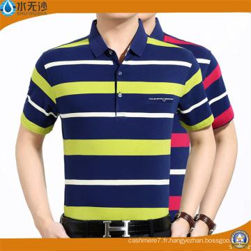 T-shirts en coton piqué pour hommes