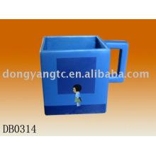 Factory direct wholesale square ceramic mug cup