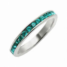 Silver Emerald Ring, Available in Different Colors, Materials and Designs