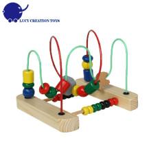 Crianças Brinquedo Toy Original Clássico Madeira Beads Maze Toy Educacional