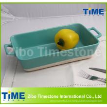 Rectangular de cerámica para hornear plato para hornear