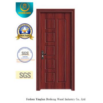 Einfaches Design MDF Tür mit brauner Farbe für Zimmer (Xcl-036)