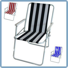 foldable beach chair with 600D oxford fabric and steel frame