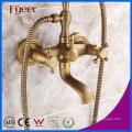 Fyeer Античная бронзовая Телефон ванна душ Смеситель Кран для настенного