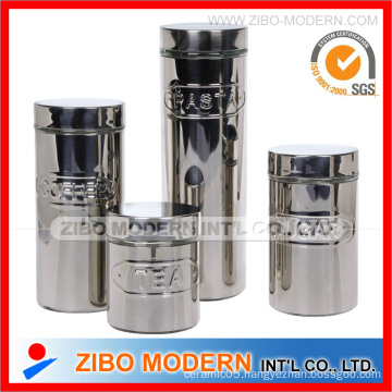 4PC Set Stainless Steel Glass Canister
