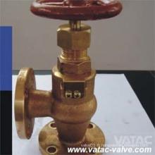 """1/2 """"/ 1"""" / 2 """"/ 3"""" / 4 """"/ 6"""" / 8 """"Valve de tuyau d'angle en fonte / bronze Fournisseur"""
