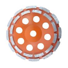 Diamond Cup Wheel with Double Row