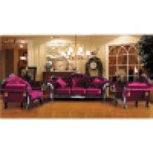 Klassisches Sofa mit Holzsofa und Tisch (D987)