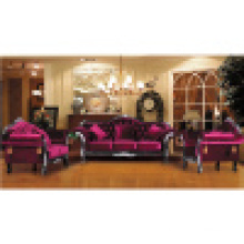Sofa Set with Wood Sofa Frame and Side Table (D987)