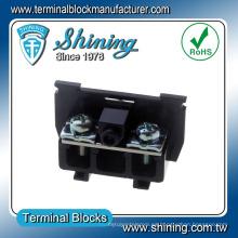 TS-025 25A Bloques de terminales de tornillo eléctrico de plástico de cassette