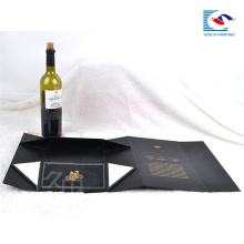 Wholesale Luxury custom folding cardboard magnetic gift box packaging wine