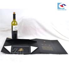 Wholesale Luxury custom folding cardboard magnetic gift box packaging wine