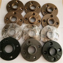 Brass malleable iron threaded floor flanges