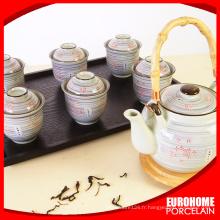 pour restaurant personnalisé imprimé soucoupes et tasses à thé