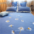 Gold Sufang best sale daisy blue logo living room bed cover set 300TC quilts bedding set