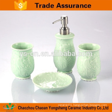 4pcs Gift box packaging bath ceramic accessory set