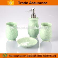 4pcs caixa de presente de embalagem de banho conjunto de acessórios de cerâmica
