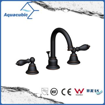 Dual Handle Brass Chromed 3 Hole Bathroom Basin Faucet (AF8301-6C)