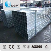 Bandeja de cable galvanizada galvanizada para el tendido de cables Bandeja de cables inferior sólido