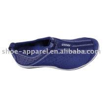 últimos zapatos de ocio para hombre con pies atado con cremallera