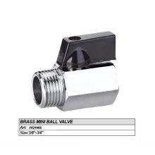 3/4 '' Miniatura pulida y cromada válvula de bola de cuerpo de bronce forjado