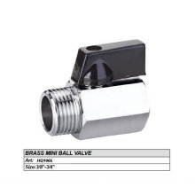 3/4'' Mini Polished and Chromed forged brass body ball valve
