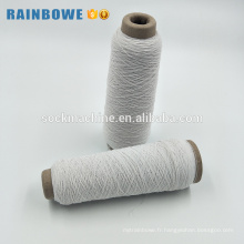 Pas cher prix noir blanc caoutchouc élastique recouvert de fil pour tricoter des chaussettes