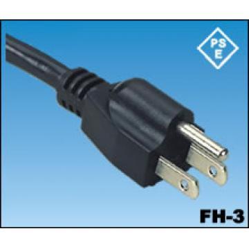 Los cables de alimentación de Japón PSE JET