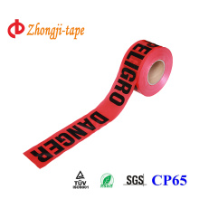 red PE road safety tape