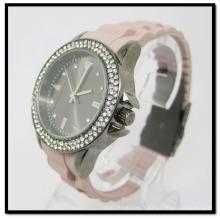 Le nouveau silicium arrivé observe la montre de bande de silicone de cas d'alliage