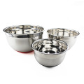 3st Stainless Steel Mixing Bowls med Grater