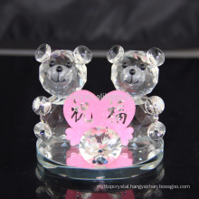 Wholesale Crystal small Animal Figurine/Crystal Teddy Bear