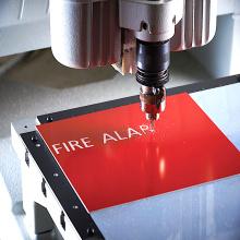 Gravure laser matériaux vierges ABS double feuille de couleur