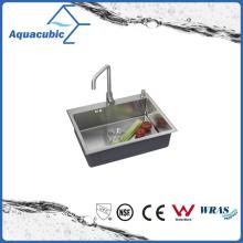 Évier de cuisine Single Bowl de fournisseur de Chine (ACS6848A1)