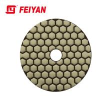 5 Step 4 Inch Dry Diamond Flexible Granite Polishing Pads Good Factory