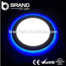 Precio competitivo Dimmable Doble Color LED de vidrio empotrado Panel de techo Down luces
