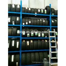 sistema de armazenamento eficiente para maximizar a capacidade de armazenamento de pneus