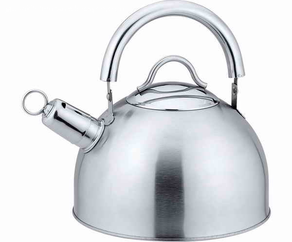 Movable steel handle tea pot